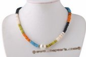 Ipn005 Hand-crafted Colorful Beach Island Shell Beads Necklaces