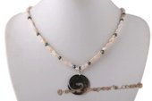 Ipn013 Treasure Mother of Pearl Shell Inspired Necklace Jewelry