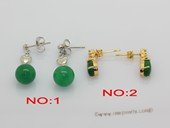 je039 Fashion  green color jade gemstone earring