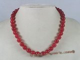 jn009 10mm round red jade necklace wholesale