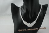 jn013 wholesale gradual change coin  jade beads necklace