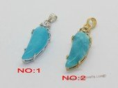 Jp046 Fashion jade gemstone pendants in metal mounting