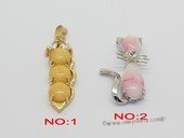 Jp051 Fashion gemstone pendants in metal mounting