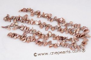 Pearl beads,7-8mm bronze cultured keshi pearl beads in side drilled keshi040 Cnepearls Ltd :  keishi pearls