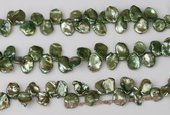 keishi056 Wholesale 10-11mm Green Color side-dirlled reborn pearls