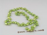 keshi08 side-dirlled green color keshi pearls wholesale