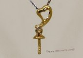 kpm121 Solid 18k Yellow Gold diamond Pendant setting