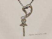 kpm147 Solid 18k White Gold diamond Pendant setting