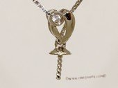 kpm148 Solid 18k White Gold diamond Pendant setting