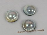 lmbp003 20-21mm round shape grey loose mabe pearl in A grade