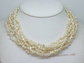lmpn013 Cultured pearl 8 strands necklace with low quality nugget pearl