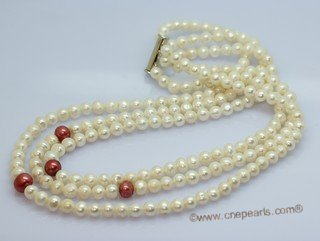 lmpn015 Multi-strand freshwater potato cultured pearl necklace for discount
