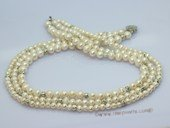 lmpn016 Triple rows gradual potato pearl  necklace in wholesale