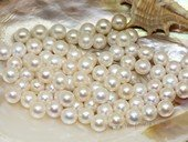 lpb002 50PCS 7-8mm AAA withe round fresh wate loose pearl wholesale