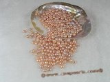 lpb005 100PCS 6*8mm AAA pink rice-shape freshwate loose pearl wholesale