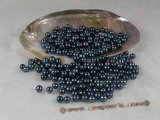 lpb007 50PCS 6-7mm AA black round fresh wate loose pearl wholesale