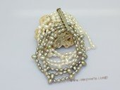 lpbr005 Cultured pearl 7 strands bracelet with low quality freswater pearl