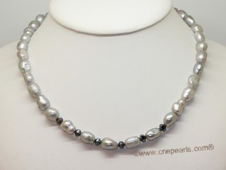 lpn020 Fashion freshwater nugget cultured pearl necklace in wholesale