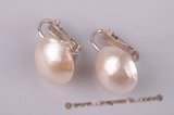 mbpe003 sterling clip earring with white mabe pearl in discount price
