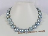 grey mabe pearl necklace
