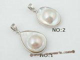 mbpp018 Wholesale couture designer sterling silver Mabe pearl enhancer