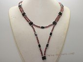 mn015 Faceted crystal and Hematite Magnetic necklace/bracelet