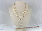 mpn077 white potato pearl triple strands necklace in wholesale