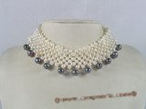 mpn097 handcrafted white potato pearl choker necklace