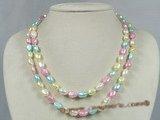 mpn129 double rows multicolor nugget pearl necklace wholesale