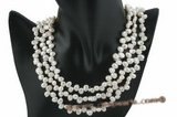 mpn199 Fashion 7-8mm white freshwater nugget pearl costume necklace on sale