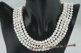mpn204 Triple strands 7-8mm potato pearl costume necklace
