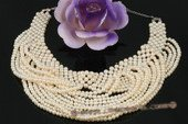 Mpn281 Luxury Hand Knitted Freshwater Pearl Vintage Bib Necklace