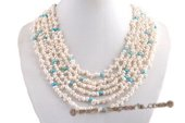 mpn342 Stylish Hand knotted Cultured Seed Pearl Layer Necklace