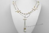 mpn374 Designer Freshwater Potato Pearl Layer Necklace With Biwa Pearl
