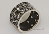 mrj014 Sterling Silver Black Enamel Designs Men&#39s Ring