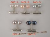 mtj012 wholesale sterling silver 6-7mm rice pearl cuff link in disscount price