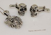 mtj020 Sterling Silver Skull Design Pendant &Cufflinks Men&#39s Jewelry Set