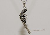 mtj025  Sterling Silver Gun Design   Men&#39s Pendant
