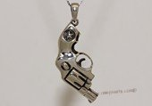 mtj031 Sterling Silver Gun Design Men&#39s Pendant