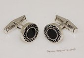 mtj033 Sterling Silver Round Design Cufflinks Men&#39s Jewelery