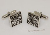 mtj034 Sterling Silver Rectangle  Design Cufflinks Men&#39s Jewelery