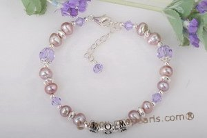 "Nbr006 ""Mom"" pearl name bracelet in wholesale"