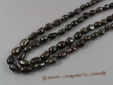 ngs019 5strands 7-8mm brown nugget Freshwater loosen pearls strands