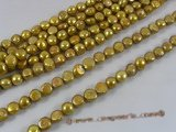ngs023 10-11mm gold Baroque nugget freshwater pearls bead strands