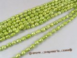 ngs025 Green 10-11mm Baroque nugget pearls bead strand on sale