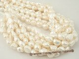 ngs027 Nature white Baroque nugget pearls bead strand in 11-12mm