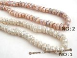 ngs030 9*12mm middle drilled Baroque nugget pearls bead strand in wholesale