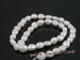 nls01 5strands 8*10mm long_dirlled nugget pearls nature white