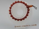 pb003 8mm Stunning Red Agate Gemstone Stretch Healing Bracelet
