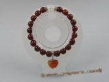 pb013 Stunning 8mm Red Agate Gemstone Stretch Healing Power Bracelet